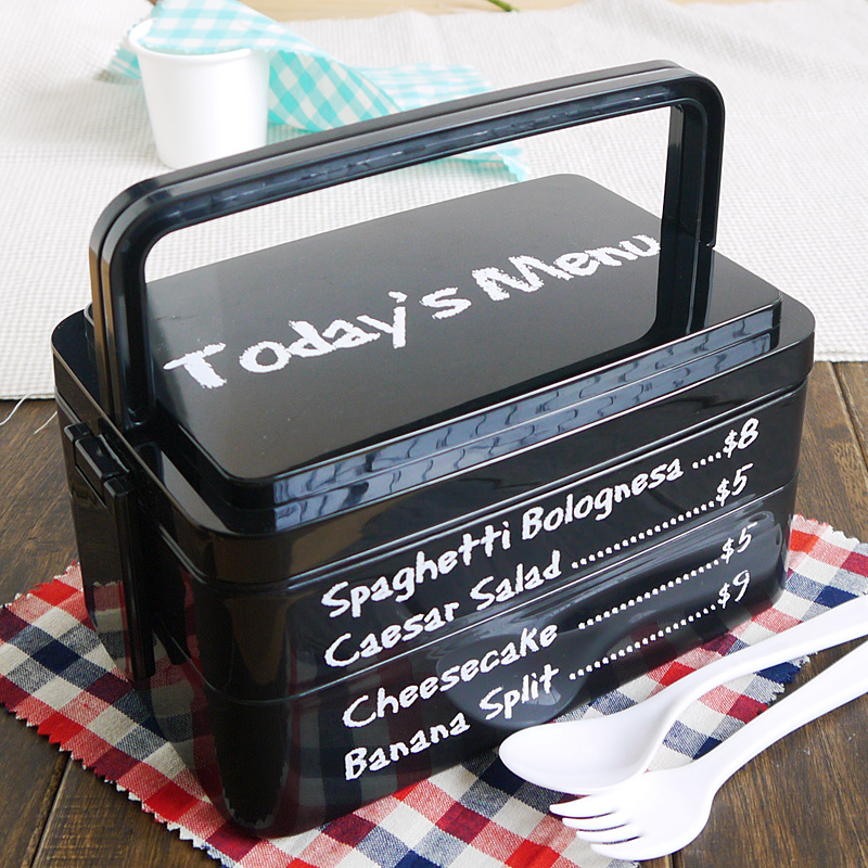 fashion large handle student microwave safe bento lunch box with menu printed design inbowls. Black Bedroom Furniture Sets. Home Design Ideas
