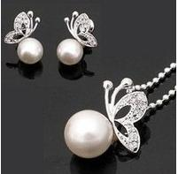 Гаджет  fashion pearl jewelry sets crystal butterfly necklace pearl jewlery free shipping 1158 0115 None Ювелирные изделия и часы
