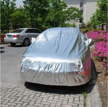 Summer aluminum foil auto car cover waterproof anti-theft sun protection car cover sun protection umbrella