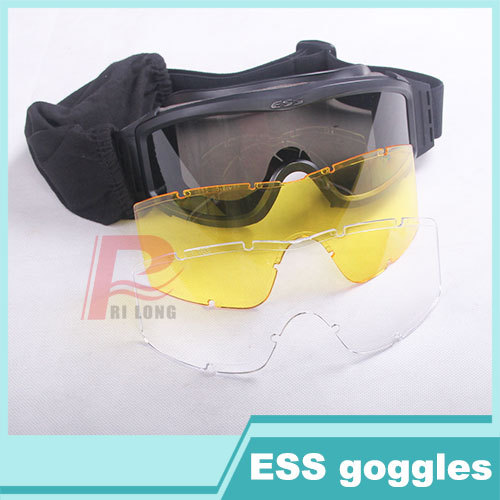 Hot Sale Fashion Tactical CS Protective ESS Goggles Safety Glass Eyewear for Paintball Hunting Shooting  HT12-0008(China (Mainland))