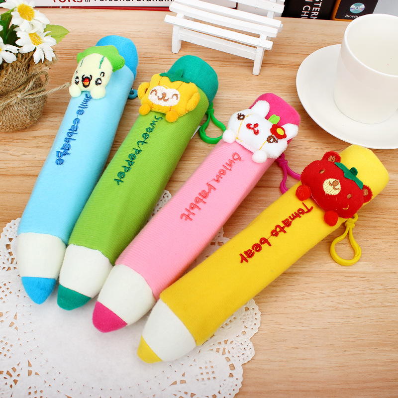 The Plush Pen Style Large Capacity Pencil Cases Multifunctional Stationery Pencil Bags For School Supplies Free Shipping 04842(China (Mainland))