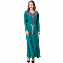 Buy muslim women Kaftan Maxi Long sleeve long Dress moroccan clothing Islamic abaya arab dubai jalabiya autumn Robe women gown 1626 for $22.99 in AliExpress store