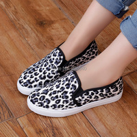 2015 vintage women sneakers fashion outdoor canvas shoe woman leopard grain tenis moccasins women sport shoes loafers