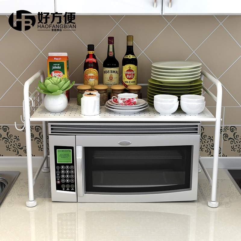 metal rack microwave shelf oven stand kitchen rack storage spice rack accessories storage. Black Bedroom Furniture Sets. Home Design Ideas