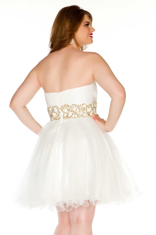 White Graduation Dresses For Juniors Photo Album - Reikian