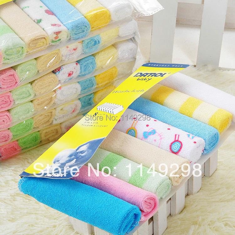 2015 Cotton Towels, 8pcs/lot Boys Feeding towel set with free shipping(China (Mainland))