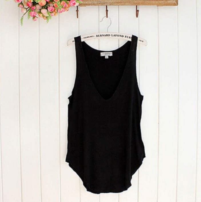 SPLENDID Fashion Summer Woman Lady Sleeveless V Neck Candy Vest Loose Tank Tops T shirt