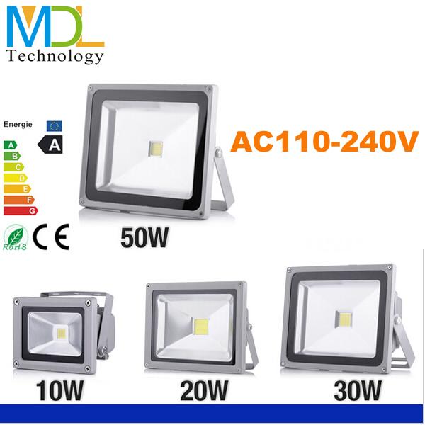 LED flood waterproof IP65 Floodlight reflector Spotlight 10W 20W 30W 50W AC85 265V Outdoor wall lamp