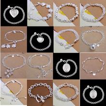 A32 // Big promotion popular Factory Price hot sale Bracelets Chain, wholesale fashion 925 jewelry silver plated Bangle Bracelet(China (Mainland))