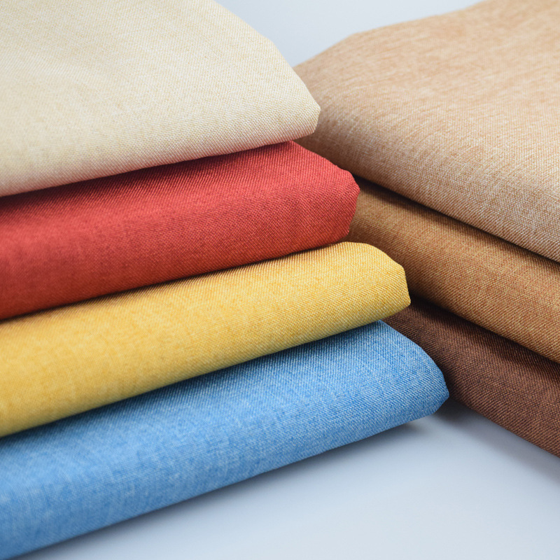 Width 1.48m (1.6 yards) Thick Sofa Fabric Cushion Pillow Plain Solid Car Soft Cloth Linen Material Fabrics Textile(China (Mainland))