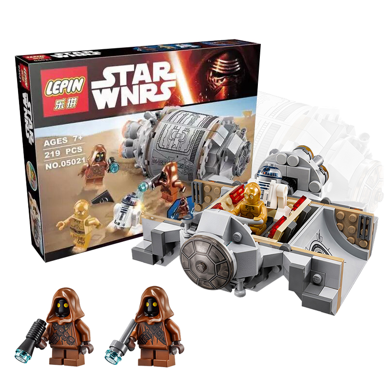 2016 NEW Star Wars Droid Escape Pod With C-3PO R2D2 Minifigures Building Toys Compatible Legoes 75136(China (Mainland))