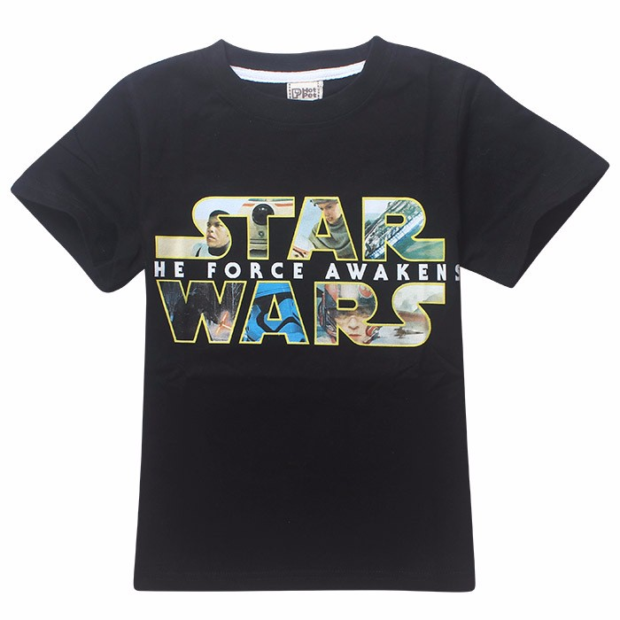 2016 Hot Boy T-shirt Star Wars Summer Cotton Cartoon Superhero Print Teennage Tee Brand Short Sleeve Costume Kid Clothes