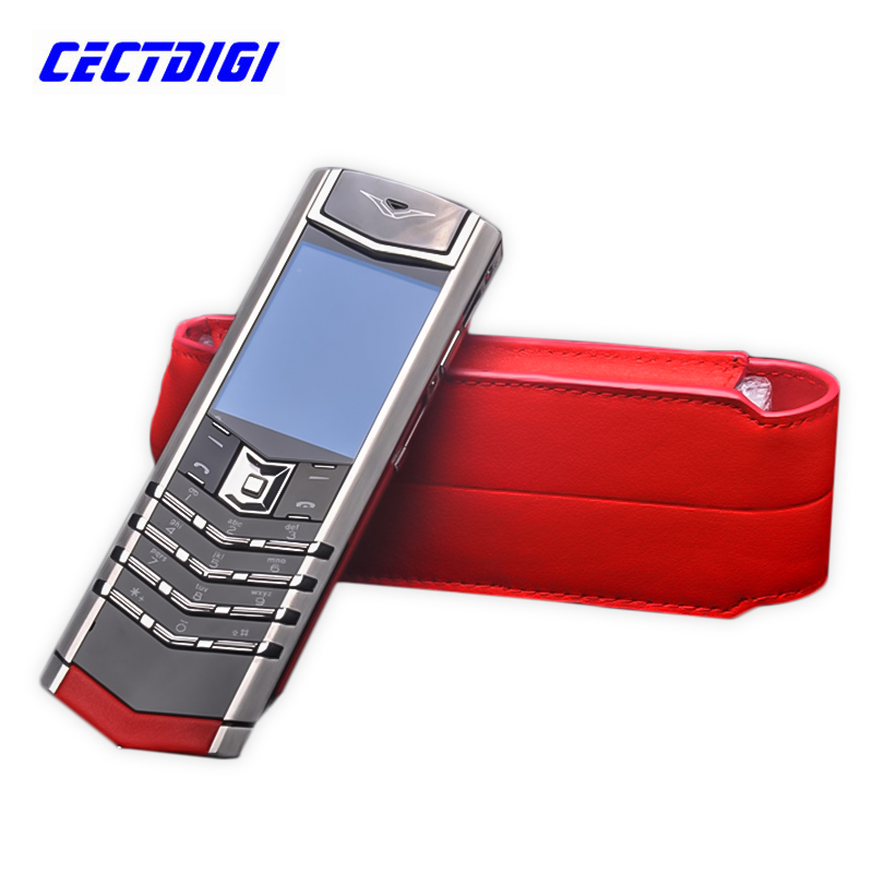2016 New luxury phone UPDATED Red signature CEO 168 high end matte edition Stainless-Steel body and genuine leather(China (Mainland))