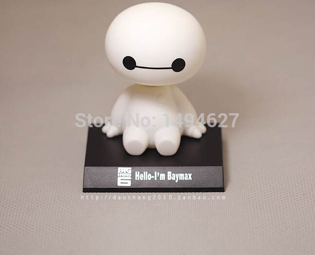 New 10cm Marvel Movie Big Hero 6 Baymax Plastic Action Figures Toy Keychain Super Heroes Fat Best Gift For Friend Free Shipping(China (Mainland))