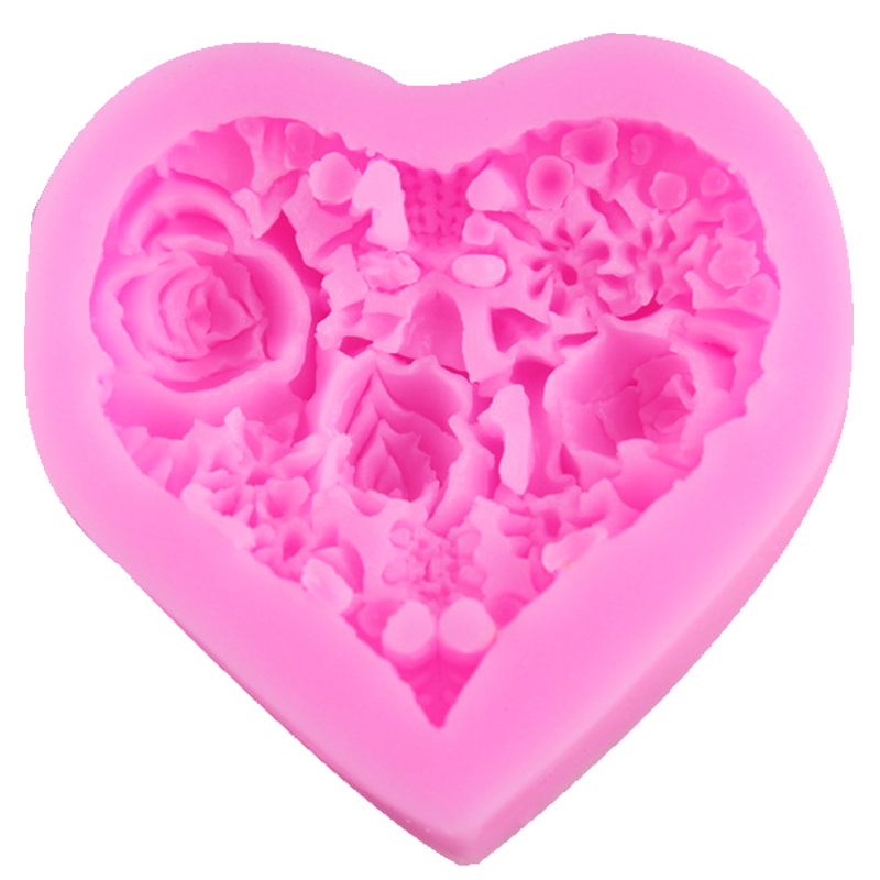 Love Shape Cake Decoration : Online Buy Wholesale silicone rose cake mold from China ...