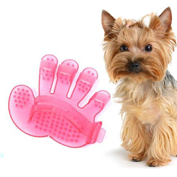 Pet Dog Cat Rakes Brush Comb Cleaner Tools Grooming Hand Shape Bath Massage(China (Mainland))