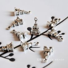 5 pcs/lot tibetan silver charms Eiffel Tower pendants diy materials bracelet necklace earrings making jewelry craft finding- - lovebeads Store store