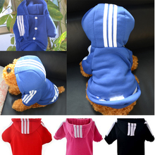Fashion Small Dog Cat Pet Puppy Clothes Hoodie Jacket Sport Sweater Costumes Coats Soft Cotton Size S- 3XL