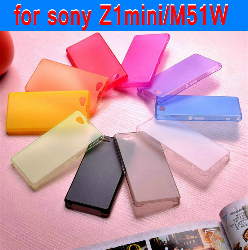 z1 mini Case for sony xperia z1 mini M51W sony z1 mini compact Phone sets translucent scrub Phone Case cell phone outer shell(China (Mainland))