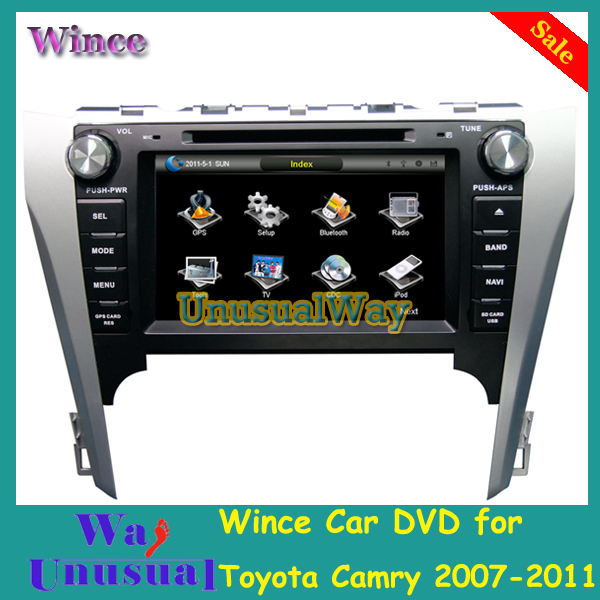 Free Shipping Car Accessories Wince Car Entertainment System DVD Player For Toyota Camry 2007- 2011 With GPS Navigation Free Map(China (Mainland))