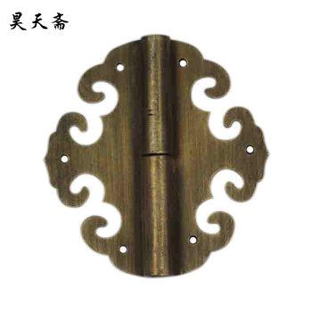 2016 High Quality Chinese Detachable antique Oval copper hinge HTF-132 bookcase wardrobe Door Hinge free shipping(China (Mainland))