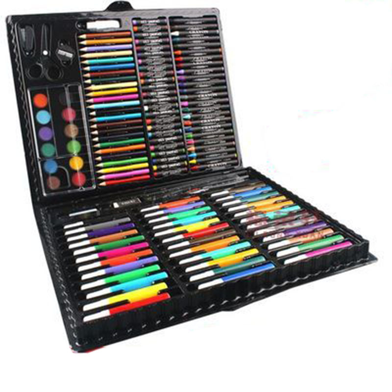 Гаджет  148pcs/set Children Drawing Set Painting Art Set Water Color Pen Crayon Oil Pastel Paint Brush Drawing Tool Art School 1 Set None Офисные и Школьные принадлежности