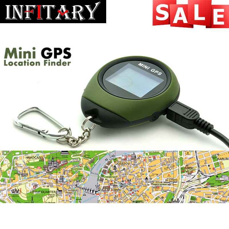 2016 hot sale Mini GPS Receiver Handheld Location Finder USB Rechargeable with Compass for Outdoor Sport Travel free shipping(China (Mainland))