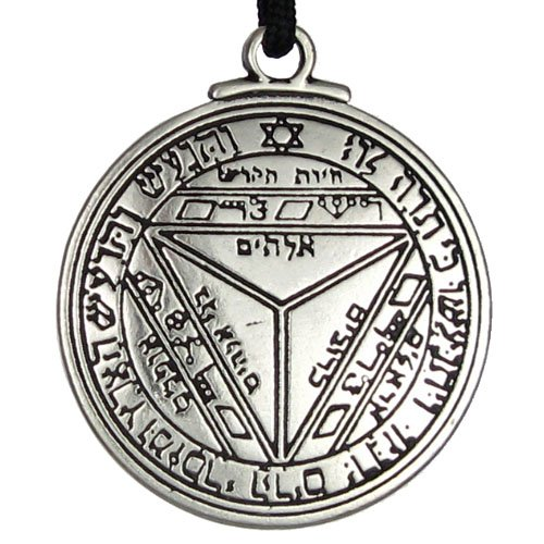 1pcs Amulet Pendant Necklace Saturn Talisman Key of Solomon Seal Pendant Necklace Hermetic Enochian Kabbalah Pagan Wiccan(China (Mainland))