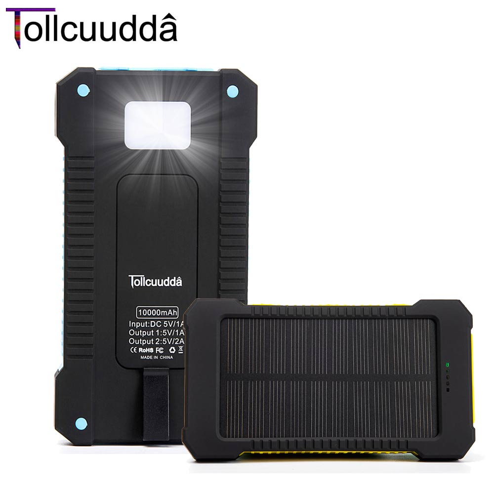 Tollcuudda High Phone Battery Usb Power Bank Solar Panel Portable Charger Led Mobile Cargador For Iphone Xiaomi Samsung Mi Phone(China (Mainland))
