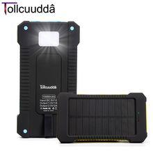 Tollcuudda Phone External Battery Power Pover Bank Solar Portable Usb Charger Mobile Powerbank Cargador For Iphone Xiaomi Mi(China (Mainland))