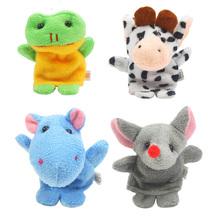 10Pcs Cartoon Biological Animal Finger Puppet Plush Toys Kids Favor Dolls Parent-Child Interaction Story Finger Puppet K5BO(China (Mainland))