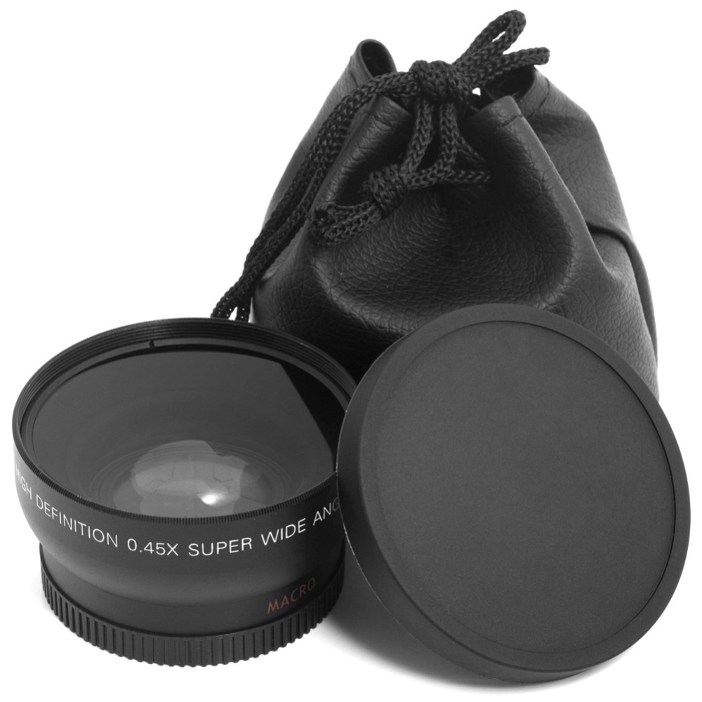 HD 0 45x 52mm Super Wide Angle Lens with Macro Lens and Carry Bag for Nikon