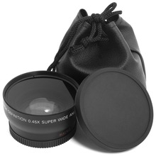 HD 0.45x 52mm Super Wide Angle  Lens with Macro Lens and Carry Bag for Nikon D800, D3200, D3100, D5100,D7000 etc.Free Shipping