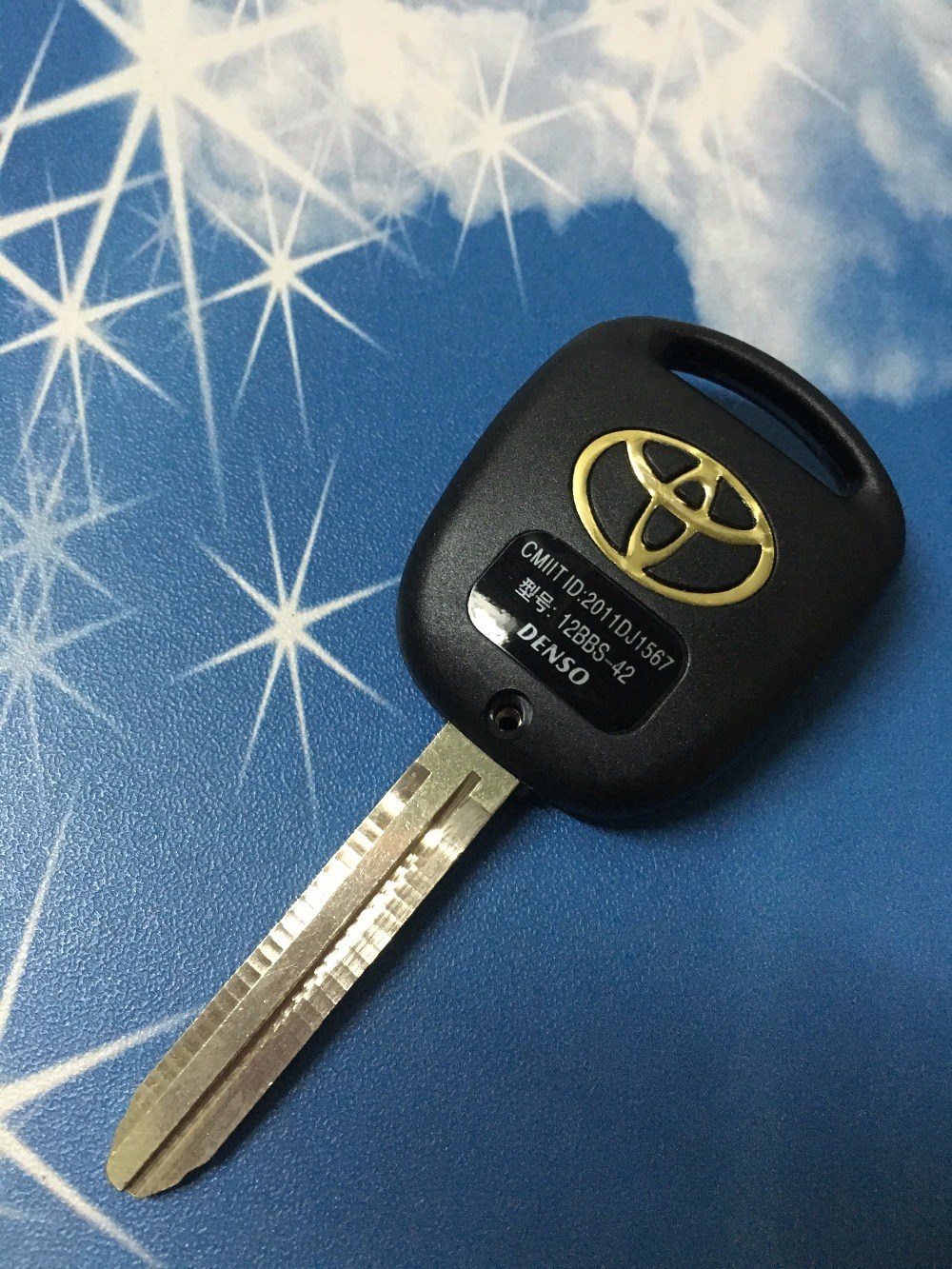 High Quality Car Key Shell Case Replacement Toyota Prado 2 Buttons Key Blank Cover With Toy43 Blade(China (Mainland))