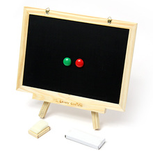 Exempt postagechildren's wooden toy,double-sided,magnetic blackboard with a tripod,all sorts of learning painting,message board(China (Mainland))