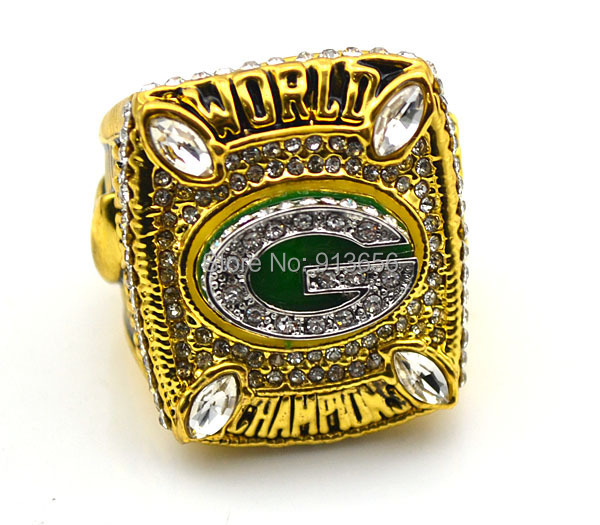 Free Shipping !replica Super Bowl 2010 gold plated Green bay packers American football championship rings as gift(China (Mainland))