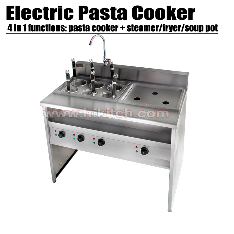 Electric pasta cooker commercial kitchen equipment stainless steel noddle cooker with bain marie.(China (Mainland))