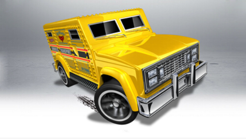 2014 Hot Wheels toy Car Model alloy Armored Truck 48/250 Free shipping(China (Mainland))