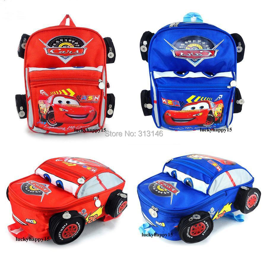 Hot New Children's Backpack Cute  Toddlers Pixar 95 Cars McQueen Backpack Child PRE School Kid Boy And Girl Cartoon School Bag(China (Mainland))