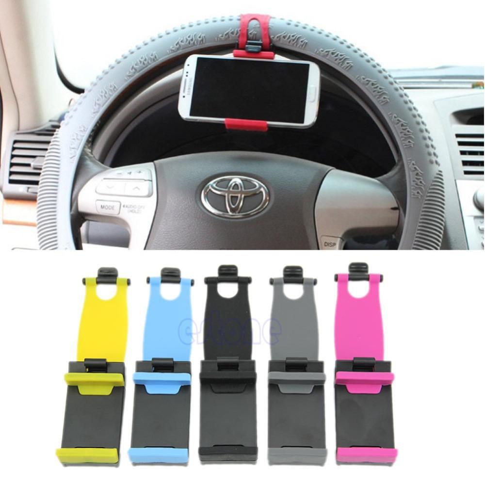 Free Shipping Hot Phone Samsung GPS Universal Car Steering Wheel Bike Clip Mount Holder