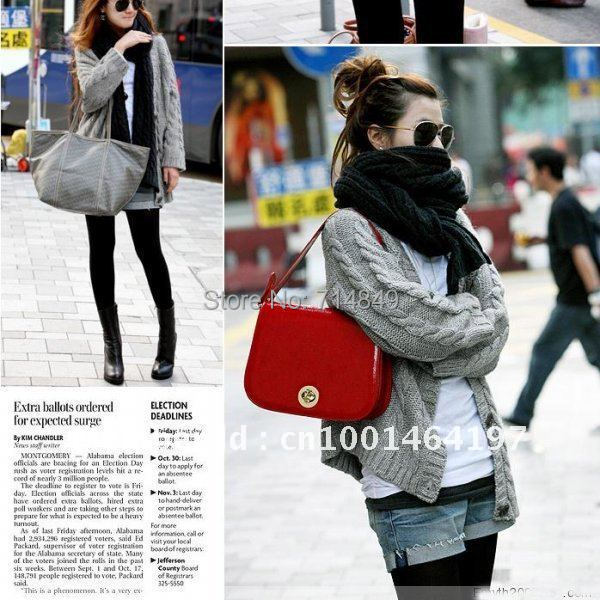 2012 Women Long Section Of The Korean Version Of The New Women Loose Serratula Thicker Wool Cardigan Sweater Jacket(China (Mainland))