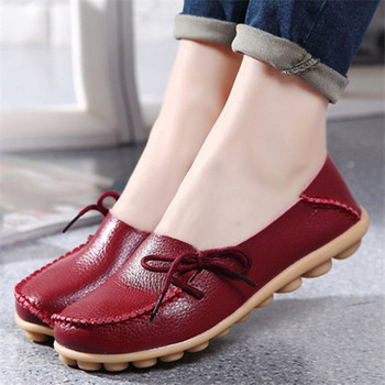 2017 New PU Leather Women Flats Moccasins Loafers Wild Driving women Casual Shoes Leisure Concise Flat shoes In 15 Colors  ST179
