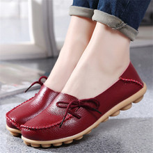 2016 New  Leather Women Flats Moccasins Loafers Wild Driving women Casual Shoes Leisure Concise Flat shoes In 15 Colors  ST179(China (Mainland))