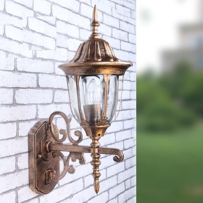 Фотография European Retro LED Wall lamp Outdoor Wall Sconce Lighting Waterproof Garden Wall Light  Aluminum Glass Porch Lights Lampara