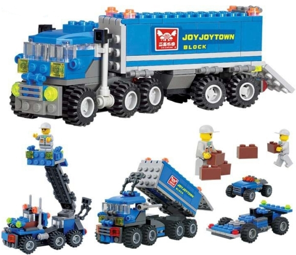 Original KAZI 6409 city Truck Model Building Blocks Sets 16 Deformation Car Bricks Toys Compatible Lego - 50w store