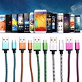 1 2 3 Meter Colors Micro USB 2 0 Braided Compact Aluminum Data Sync Charger Cable