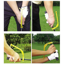 2PCS/lot Golf Practice Plane Swing Guide Trainer Training Wrist Correct Aid Tool Gesture Alignment Club, Free Shipping