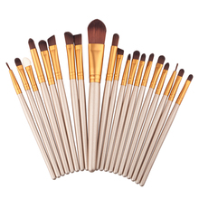 Buy 20 pcs Face Eye Makeup Brushes Set Pro Eyeshadow Eyebrow Eyeliner Lip Brush Blending Powder Foundation Brush Cosmetic Tools Kit for $3.63 in AliExpress store