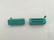 10pcs 24 Pin Universal ZIF DIP Tester IC Test Socket Narrow(China (Mainland))