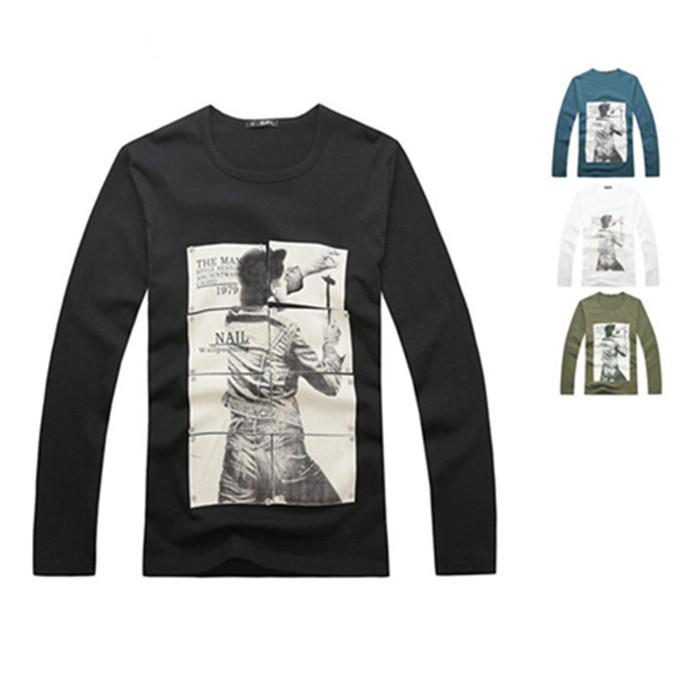 Hot sale men s cheap price 100 cotton long sleeve silk for Cheap silk screen t shirts